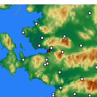 Nearby Forecast Locations - İzmir - Map