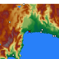 Nearby Forecast Locations - Antalya - Map