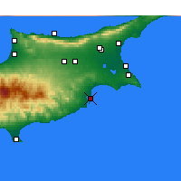 Nearby Forecast Locations - Larnaca - Map