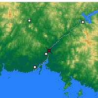 Nearby Forecast Locations - Sinuiju - Map