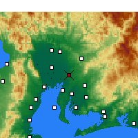 Nearby Forecast Locations - Nagoya - Map