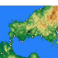 Nearby Forecast Locations - Yamaguchi - Map