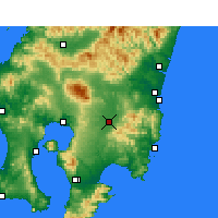 Nearby Forecast Locations - Miyakonojō - Map