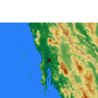 Nearby Forecast Locations - Dawei - Map