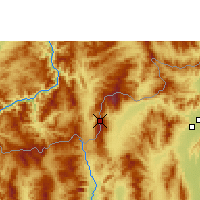 Nearby Forecast Locations - Doi Ang Khang - Map
