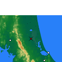 Nearby Forecast Locations - Phatthalung - Map