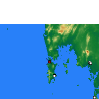 Nearby Forecast Locations - Phuket Intl. Airport - Map