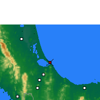 Nearby Forecast Locations - Songkhla - Map