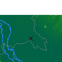 Nearby Forecast Locations - Svay Rieng - Map