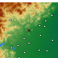 Nearby Forecast Locations - Quyang - Map