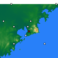 Nearby Forecast Locations - Laoshan - Map