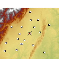Nearby Forecast Locations - Xindu - Map
