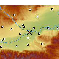 Nearby Forecast Locations - Jinghe - Map