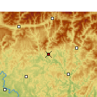 Nearby Forecast Locations - Bazhong - Map