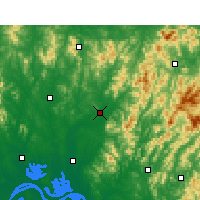Nearby Forecast Locations - Macheng - Map