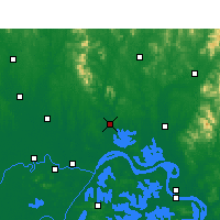 Nearby Forecast Locations - Huangpi - Map