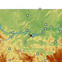 Nearby Forecast Locations - Jiangan - Map