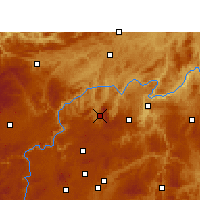 Nearby Forecast Locations - Xifeng/GZH - Map