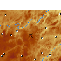 Nearby Forecast Locations - Weng'an - Map