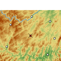 Nearby Forecast Locations - Liping - Map