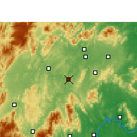 Nearby Forecast Locations - Shaoyang Xian - Map