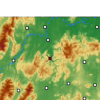 Nearby Forecast Locations - Shuangpai - Map