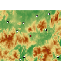 Nearby Forecast Locations - Linwu - Map