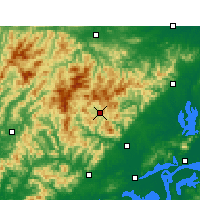 Nearby Forecast Locations - Yuexi/ANH - Map