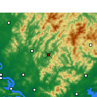 Nearby Forecast Locations - Yingshan/HUB - Map
