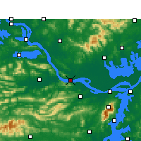 Nearby Forecast Locations - Wuxue - Map