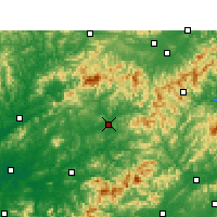 Nearby Forecast Locations - Wuyuan - Map