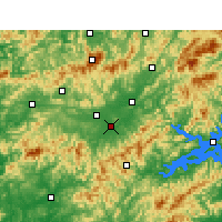 Nearby Forecast Locations - Tunxi - Map