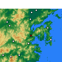 Nearby Forecast Locations - Ninghai - Map