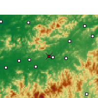 Nearby Forecast Locations - Shangrao - Map