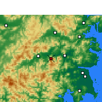 Nearby Forecast Locations - Kuocangshan - Map