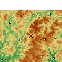 Nearby Forecast Locations - Qingyuan - Map