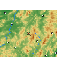 Nearby Forecast Locations - Anyuan - Map