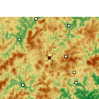 Nearby Forecast Locations - Datian - Map
