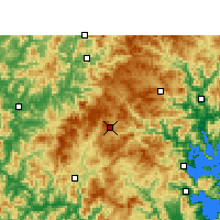 Nearby Forecast Locations - Pingnan/FUJ - Map