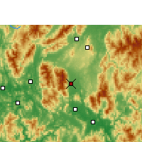 Nearby Forecast Locations - Fuchuan - Map