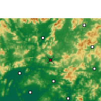 Nearby Forecast Locations - Fogang - Map