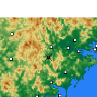 Nearby Forecast Locations - Pinghe - Map