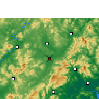 Nearby Forecast Locations - Wuhua - Map