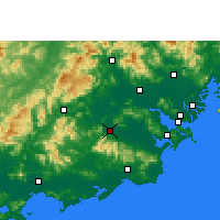 Nearby Forecast Locations - Puning - Map