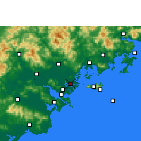 Nearby Forecast Locations - Denghai - Map
