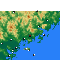 Nearby Forecast Locations - Zhao'an - Map