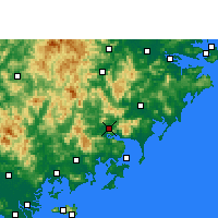 Nearby Forecast Locations - Yunxiao - Map