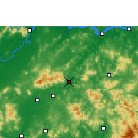 Nearby Forecast Locations - Rong Xian/GXA - Map