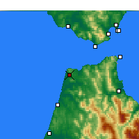 Nearby Forecast Locations - Tangier - Map