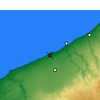 Nearby Forecast Locations - Casablanca - Map
